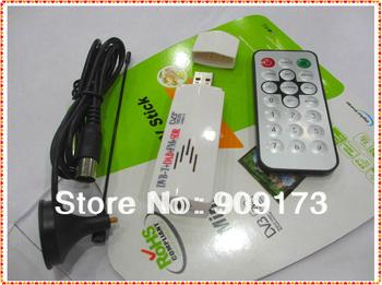 Free Shipping Wholesale 6pcs/lot  Digital TV Stick FM+DAB USB DVB-T RTL2832U+FC0013B Support SDR Hot