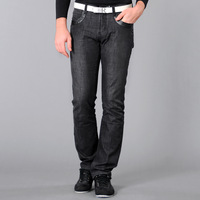 free shipping Hoperise male black 100% cotton jeans brief fashion slim trousers male casual jeans