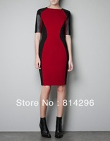 Free     shipping    Splice sexy dress cultivate one's morality