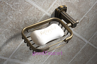 Free shipping ! Antique bronze soap dishes solid brass soap holder wall mount soap basket bathroom accessaries