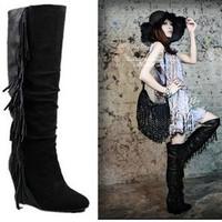 Brand New Black/White Fringe Tassel Boots Isabel Marant Size(36~41) patchwork Boots
