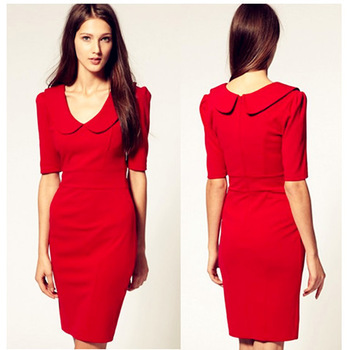 Free shipping,New arrivel,2013 Spring peter pan collar,Fashion dress,Slim hip dress,Party dress,Euro style,Hot selling