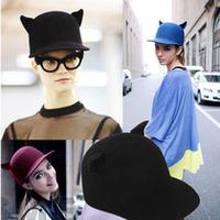 Min.order is $10 (mix order). Fashion woolen horn cap devil hat cat ears hat female winter hat,Welcome to order!