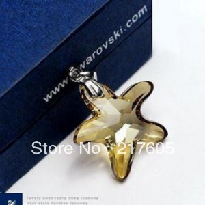 Fashion Jewelry Beautiful Element Crystal Necklace Romantic star P087(China (Mainland))