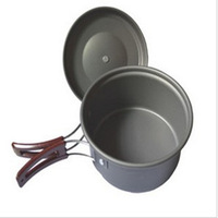 New Camping Cookware Hiking Backpacking Cooking Outdoor Aluminum Alloy Cookware Utensils Free Shipping