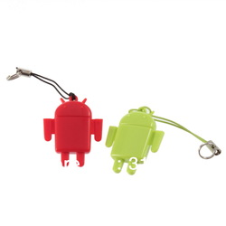 Lovely Cute Android Robot mini USB 2.0 Hi-Speed TF Micro SD TF Card Reader(China (Mainland))
