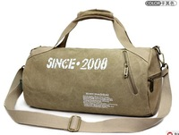 Free Shipping+2013 Fashion Sports Bag /Gym Bag Barrel Bag Cross-Body Travel Bag Handbag Casual Canvas Bag+40CM*22CM*13CM