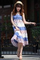 Женское платье Fashion sexy gorgeous paillette racerback halter-neck slim hip ultra short Dress for women