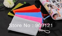 50pcs/lot colorful Protective Flannel Bag Universal Pouch for Apple iPhone 5 for iPhone 4s for Apple Series Free Shipping