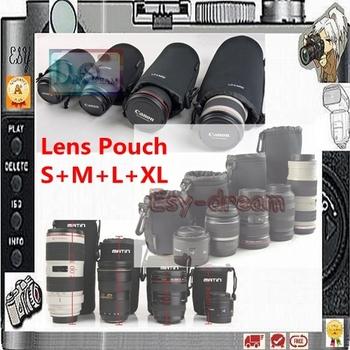 High Quality Neoprene Soft Camera Lens Pouch bag Case 4 pcs Size XL L M S Waterproof PA071