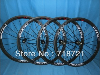 wholesale-38mm zipp303 firecrest carbon road clincher/tubular wheelset clincher +novatec hub+spokes+skewer&3k glossy/matte