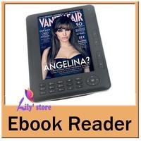 51.97$!!! 7 inch Ebook Reader,Support MP3 /MP4/ FM Radio/ Voice Recorder/Digital Photo Frame 4GB Reader E book, Freeshipping