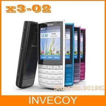 10pcs/lot EMS free X3-02 original brand nokia X3-02 cell phone,3G,Quad-Band,WiFi,5MP camera freeship