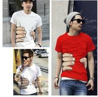 boy men's T-shirt short sleeve catch you tee catton T-shirt high quality free shipping