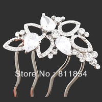 Top Quality,Bridesmaid Bridal Comb Wedding Red Austria Crystal Wedding Hair Accessories,Free Shipping,Retail&Mix Wholesale