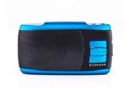 Free shipping Rogor q5 portable plug-in speaker digital mini audio with fm radio mp3 player with 4GB TF card