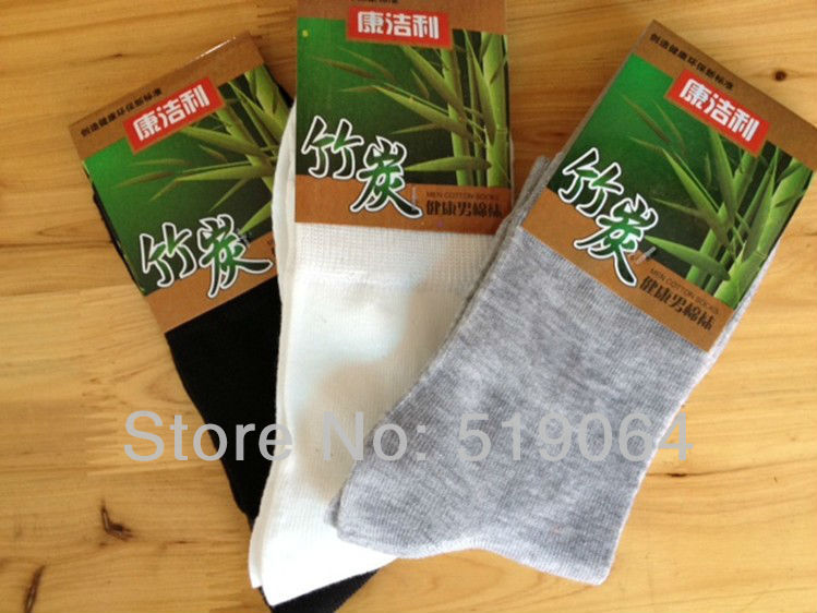 Freeshipping Bamboo fiber men's socks .the color mixed shipped to you .Per Package contains 3 Colors men thin socks(China (Mainland))