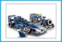 M38-B0351 BUS sluban Building Block Set 3D  Construction Brick Toys Educational Block toy for Children fit all brick