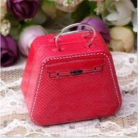 GAGA ! Free shipping red  handbag tin box , tin case , L3.5*W5*H3.5(cm), 80 pcs/lot , LCMJ9