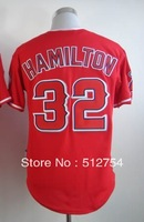 Free Shipping #32 Josh Hamilton Men's Baseball Jersey,Embroidery and Sewing Logos,size M--3XL,Accpet Mix Order
