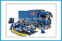 without original box Sluban 0357 F2 Racing Truck Building Block Set 3D  Construction Brick Toys Educational Block toy