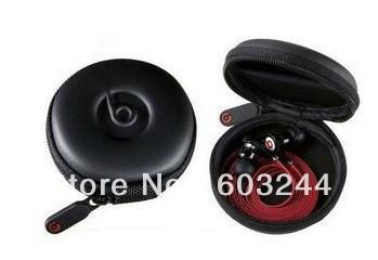 Free Hong Kong Post 20pcs Black White Portable Earphone Case Pouch Bag Zipper Bag For Mp3 Mp4 iPhone 4 4S 5 5G(China (Mainland))