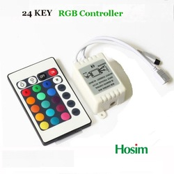 24key RGB Controller LED Strip IR Remote Controller Available for 5050/3528 Free Shipping(China (Mainland))