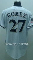 Free Shipping #27 Carlos Gomez Men's Baseball Jersey,Embroidery and Sewing Logos,size M--3XL,Accpet Mix Order