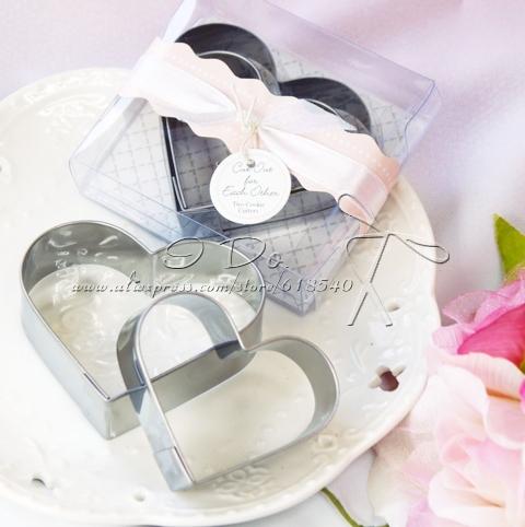 Coração Frete Grátis metal em forma Cookie Cutter Set favor do casamento / presente de casamento / Party Favor (conjunto de 20)(China (Mainland))