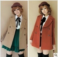 HOT PROMOTION A8368 autumn winter women's new arrival woolen suit casual fashion outerwear overcoat