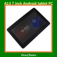 "Hot selling 7"" Capacitive android 4.0.4 tablet pc  Allwinner A13 Q88 1.0GHz single Camera WIFI 3G"