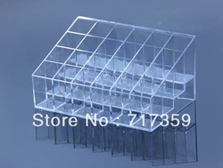 Free Shipping Wholesale 1pc Clear 24 Makeup Lipstick Cosmetic Storage Display Stand Holder ON SALE 670148(China (Mainland))
