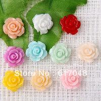 Wholesale  500pcs  Fashion  Flower  High Quality Resin Flatbacks 10mm  A15A