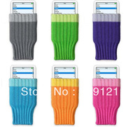 50pcs/lot Colorful Universal Sock Pouch Bag for Apple iPhone 5 for iPod for iTouh for Apple Series Free Shipping