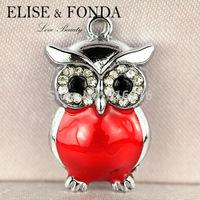 C79b 2014 Latest New Design Wholesale 10 pcs Wise OWL Teacher Wild Animal  Custom alloy  DIY Charms Pendants