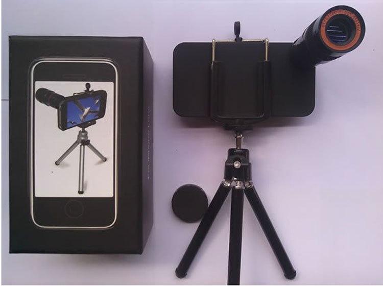 Livraison gratuite 20 pcs/lote haute qualité usine gros 8x téléobjectif zoom optique télescope pour iPhone 4 / 4S(China (Mainland))