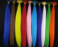 Wholesale Retail Packing 240pcs/pack Free shipping Grizzly Synthetic Fiber  Hair Extension, Vivid Colors 16'' Tools Free