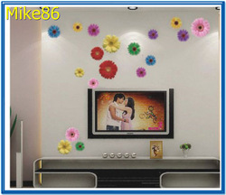 [ Mike86 ] All kind of flowers Make the World Malaysia Best Selling Art Decals,Removable Wall Stickers,100 pcs/Lot,Free Shipping(China (Mainland))