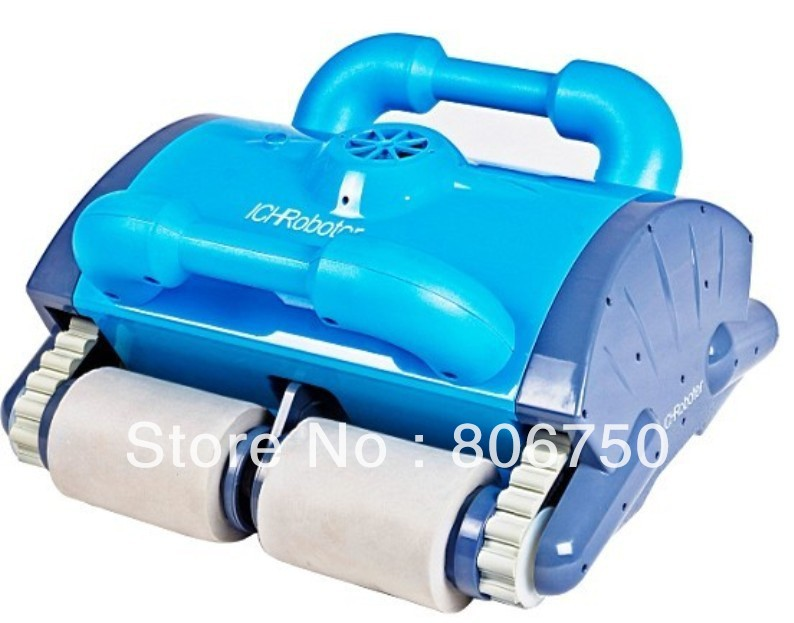 Robot Swimming Pool Cleaner With Spot Cleaning, Wall Climbing+Remote Controller+15m Cable+Working Area:100m2-200m2
