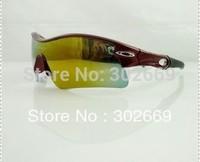 UV protection Sunglasses Fashion Sports Eyewear red frame Free Shipping 3pcs/lot