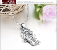 Free Shipping Fashion Jewelry Scorpion Shaped S Pendant 316L Stainless Steel Mens Necklaces