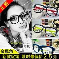 free shipping,2013 vintage non-mainstream eyeglasses frame male Women black rubric for eyes box plano lens