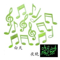 Free Shipping Home Wall Glow In The Dark Note 3D Stickers Decal Baby Kids Gift Nursery Room