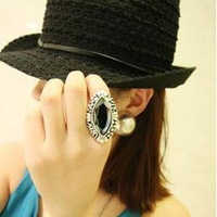 Personalized vintage huge index finger ring opening finger ring female accessories