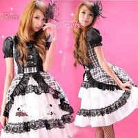 lingerie sexy Dress 2012 black-and-white princess dress costume photo service Free shipping