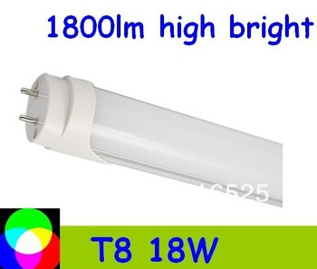 10pcs/lot T8 LED Tube 1200mm Light 18W SMD288pcs Warm White/Cool White 1800lm Frosted PC Cover Free shipping