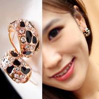 5paris/Lot  Women Fashion crystal leopard stud earrings/Earpin gold plated Free shipping