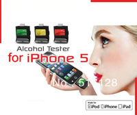 Mini digital breath alcohol tester for iPhone 5 / for iPod touch 5 / for iPad 4/ for ipad mini, with LCD digital display