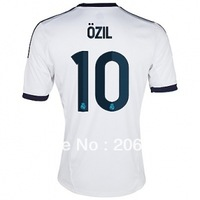 Free shipping,12/13 season Real Madrid home soccer jersey (#10 OZIL)