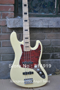 4 Strings Jazz Bass Maple cream yellow Electric Bass Guitar Musical Instruments